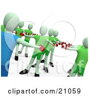 Clipart Illustration Of A Fitness Instructor Teaching An Aerobics Class With Weights
