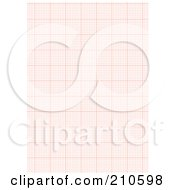 Royalty Free RF Clipart Illustration Of A Red Graph Paper Background