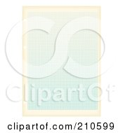 Royalty Free RF Clipart Illustration Of A Page Of Blue Graph Paper