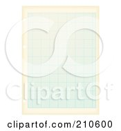 Royalty Free RF Clipart Illustration Of A Page Of Aged Blue Graph Paper