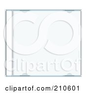 Royalty Free RF Clipart Illustration Of A Clear CD Case by michaeltravers