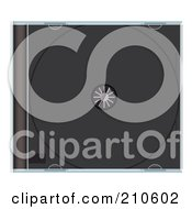 Royalty Free RF Clipart Illustration Of A Black CD Case by michaeltravers