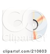 Royalty Free RF Clipart Illustration Of A Shiny Cd Partially In A Sleeve by michaeltravers