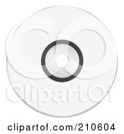 Royalty Free RF Clipart Illustration Of A Blank White Cd Or Dvd With Copyspace by michaeltravers