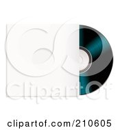 Royalty Free RF Clipart Illustration Of A Black Cd Partially In A Sleeve by michaeltravers