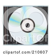 Royalty Free RF Clipart Illustration Of A Shiny CD In A Closed Hard Case