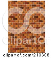 Royalty Free RF Clipart Illustration Of A Grungy Brown Brick Wall Background by michaeltravers