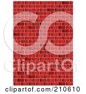 Royalty Free RF Clipart Illustration Of A Grungy Red Brick Wall Background by michaeltravers