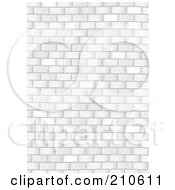 Royalty Free RF Clipart Illustration Of A Grungy White Brick Wall Background