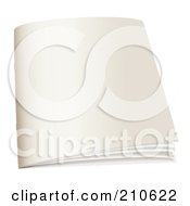 Royalty Free RF Clipart Illustration Of A Blank White Booklet
