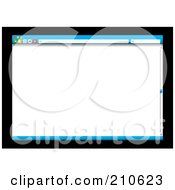 Royalty Free RF Clipart Illustration Of A Blue Web Browser With A Slider Bar Over Black by michaeltravers