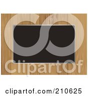 Royalty Free RF Clipart Illustration Of A Wooden Border Frame Around Blank Space by michaeltravers