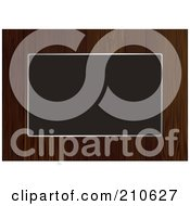 Royalty Free RF Clipart Illustration Of A Dark Wooden Border Frame Around Blank Space by michaeltravers