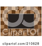 Royalty Free RF Clipart Illustration Of A Checkered Wooden Border Frame Around Blank Space