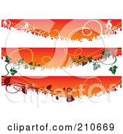 Digital Collage Of Three Autumn Banners With Vines