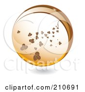 Royalty Free RF Clipart Illustration Of A Sphere Of Falling Brown Leaves by MilsiArt