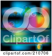 Royalty Free RF Clipart Illustration Of A Blurry Colorful Background With Bubbles