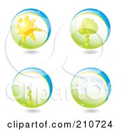 Royalty Free RF Clipart Illustration Of A Digital Collage Of 3d Life Spheres by MilsiArt