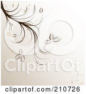 Royalty Free RF Clipart Illustration Of A Splattered Brown Vine Over Beige