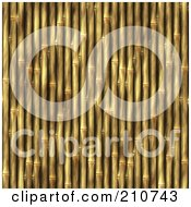 Royalty Free RF Clipart Illustration Of A Seamless Bamboo Stick Wall Background