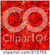 Royalty Free RF Clipart Illustration Of A Red Blood Cell Seamless Background