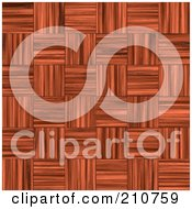 Royalty Free RF Clipart Illustration Of A Parquet Weaved Patterned Wood Background by Arena Creative