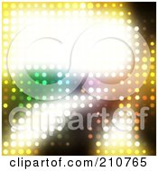 Royalty Free RF Clipart Illustration Of A Bright Glowing Text Box On A Background Of Glowing Lights by Arena Creative