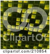 Royalty Free RF Clipart Illustration Of A Slanted Green Tile Background by elaineitalia