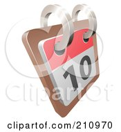 Royalty Free RF Clipart Illustration Of A 3d Flip Desk Calendar On Day 10