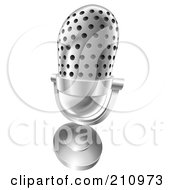 Royalty Free RF Clipart Illustration Of A 3d Angled Desk Microphone