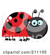Royalty Free RF Clipart Illustration Of A Smiling Happy Red Ladybug