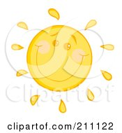 Royalty Free RF Clipart Illustration Of A Happy Sun With A Smile by Hit Toon