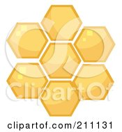 Royalty Free RF Clipart Illustration Of Honey Combs In A Hive