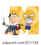 Royalty Free RF Clipart Illustration Of A Letter M With A Magician by Hit Toon