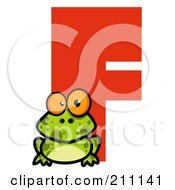 Royalty Free RF Clipart Illustration Of A Letter F With A Frog