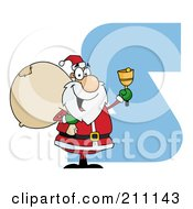 Royalty Free RF Clipart Illustration Of A Letter S With Santa