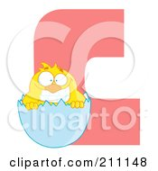 Royalty Free RF Clipart Illustration Of A Letter C With A Chick