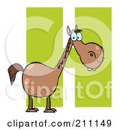 Royalty Free RF Clipart Illustration Of A Letter H With A Horse