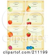 Royalty Free RF Clipart Illustration Of A Digital Collage Of Pastel Orange Homemade Jam From The Kitchen Of Labels With Fruit Text And Date Space by Eugene