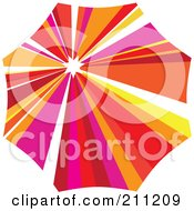Royalty Free RF Clipart Illustration Of A Logo Design Of A Colorful Parasol by Eugene