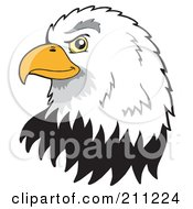 Royalty Free RF Clipart Illustration Of A Profiled American Bald Eagle Face by visekart #COLLC211224-0161