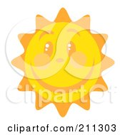 Happy Sun Face With A Big Smile by Hit Toon