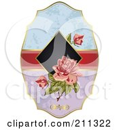 Royalty Free RF Clipart Illustration Of A Floral Rose Label by Eugene