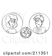 Coloring Page Outline Of A Couple Considering Pregnancy