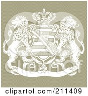 Royalty Free RF Clipart Illustration Of A Lion And Crown Shield Crest