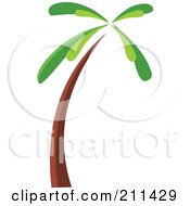 Royalty Free RF Clipart Illustration Of A Palm Tree