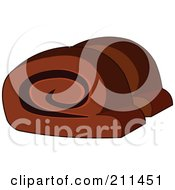 Royalty Free RF Clipart Illustration Of Two Slices Of Sweet Bread by yayayoyo