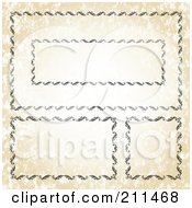 Royalty Free RF Clipart Illustration Of A Digital Collage Of Ornate Frame Borders 4 by BestVector