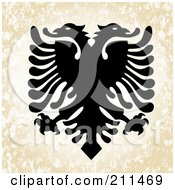 Royalty Free RF Clipart Illustration Of A Double Headed Eagle Design by BestVector