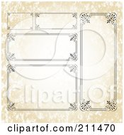Royalty Free RF Clipart Illustration Of A Digital Collage Of Ornate Frame Borders 6 by BestVector